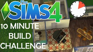 Attempting the 10 Minute Build Challenge in The Sims 4