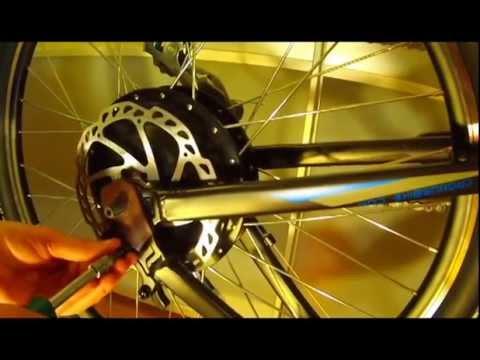 Установка редукторного мотор-колеса 1000Вт на велосипед