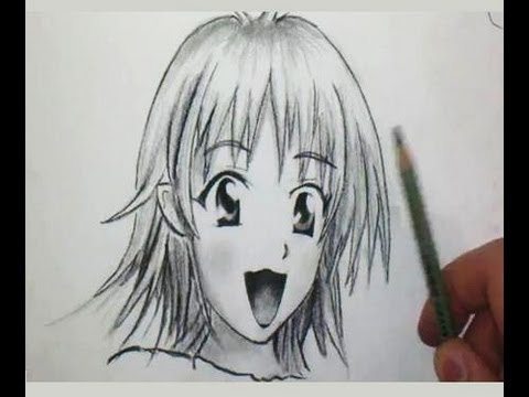 comment dessiner un visage manga de fille tutoriel youtube. Black Bedroom Furniture Sets. Home Design Ideas