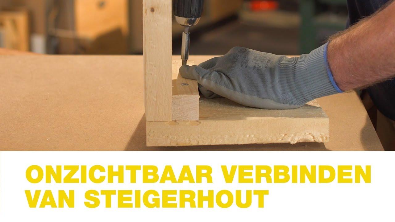 Tuintafel Steigerhout Praxis.Praxis Onzichtbaar Verbinden Van Steigerhout Hoe Doe Je Dat