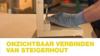 Praxis | Onzichtbaar verbinden van steigerhout | Hoe doe je dat?