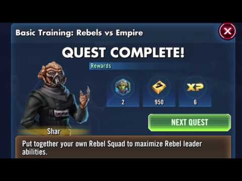Star Wars Galaxy of Heroes: REBELS Basic Training Event (all tiers)