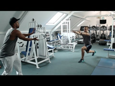 Hockey Off Ice Gym Workout Part 2 - How To Improve Slap ...