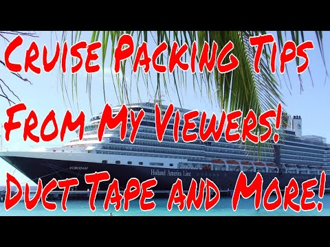 Cruise Ship Tips From Viewers! Most Unique and Neccessary Items You Must Pack to Take a Cruise!