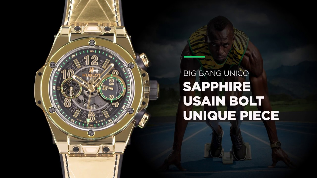 HUBLOT BIG BANG SAPPHIRE USAIN BOLT UNIQUE PIECE