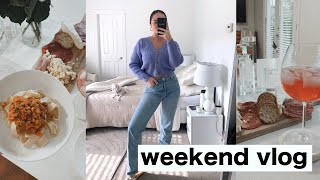 VLOG WEEK DAY 6 | grocery haul, shopping & cook with me (easy bolognese recipe)