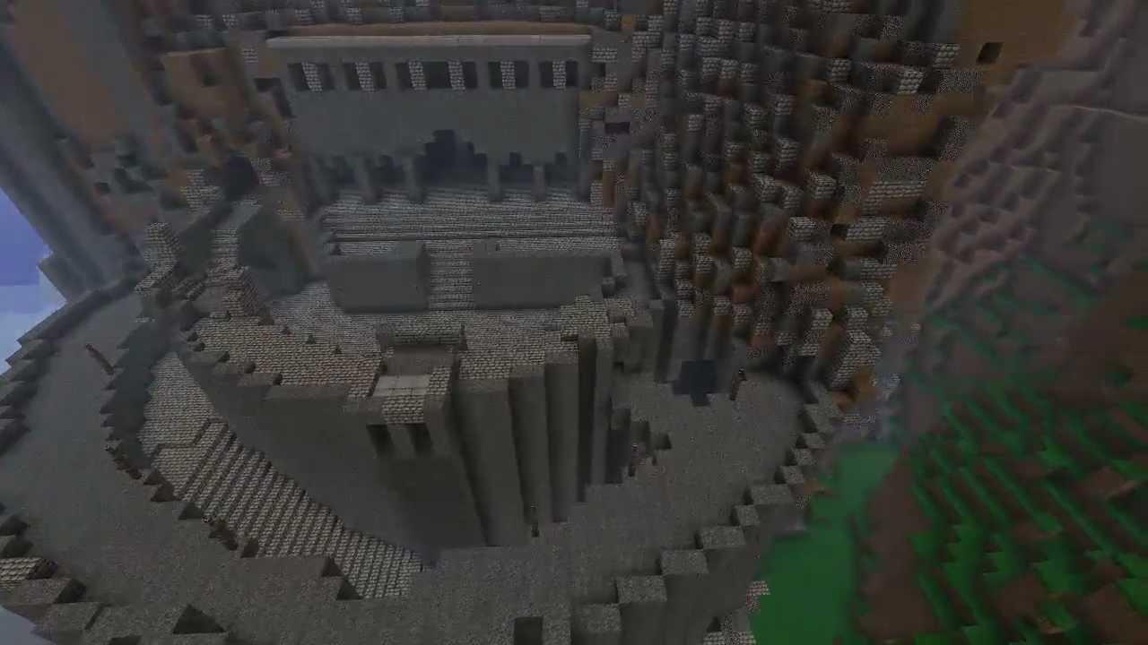 Helms deep minecraft creation youtube