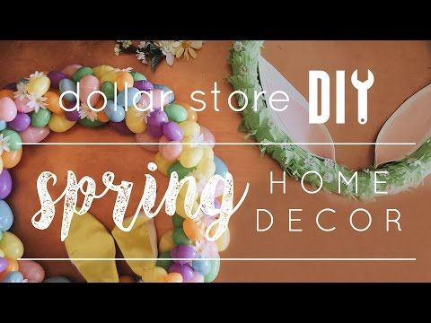 DIY Dollar Store Spring Decor // Three Easy DIY Wreaths