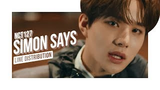 • NCT 127 • Simon Says • Line Distribution • 엔시티 127 •