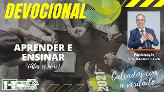 Devocional | APRENDER E ENSINAR | 06/04/2021