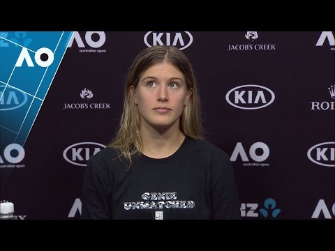 Eugenie Bouchard press conference (3R)  | Australian Open 2017