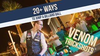20+ WAYS to Jump a Billiard Ball -- Venom Trickshots