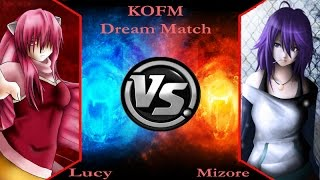 [KOFM Dream Match] Lucy (Elfen Lied) (ME) vs Mizore (Rosario+Vampire) (CPU)