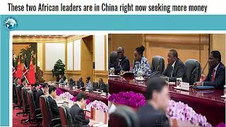 African leaders are in China seeking more money,while a Chinese made chief in Nigeria