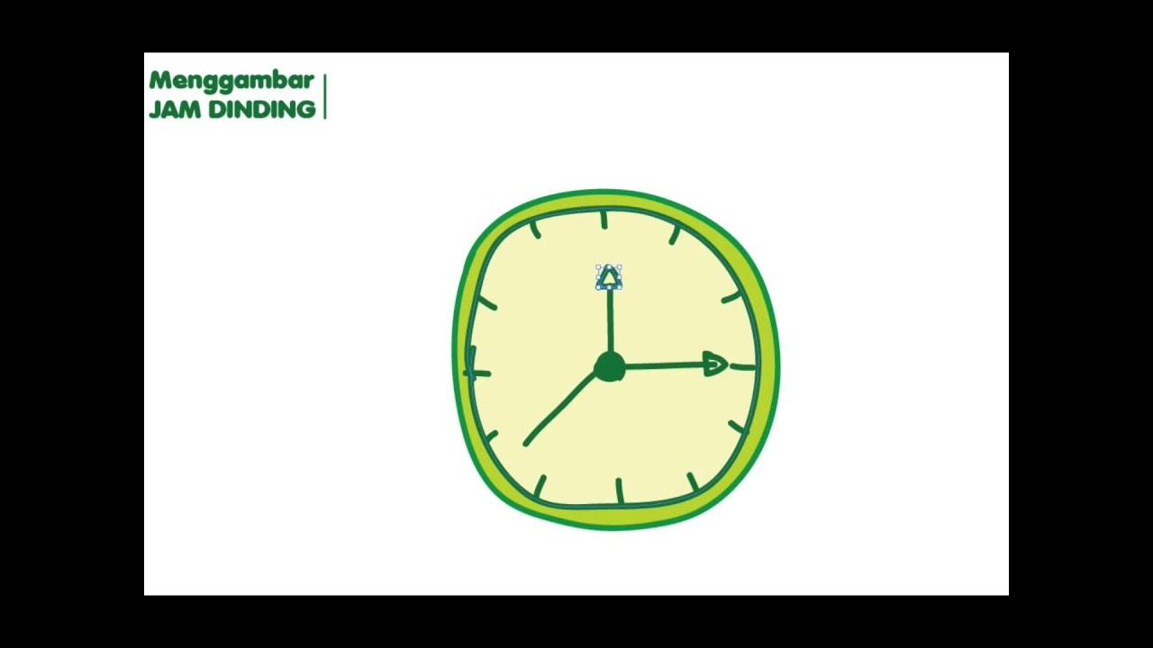Menggambar Mewarnai Jam Dinding Youtube