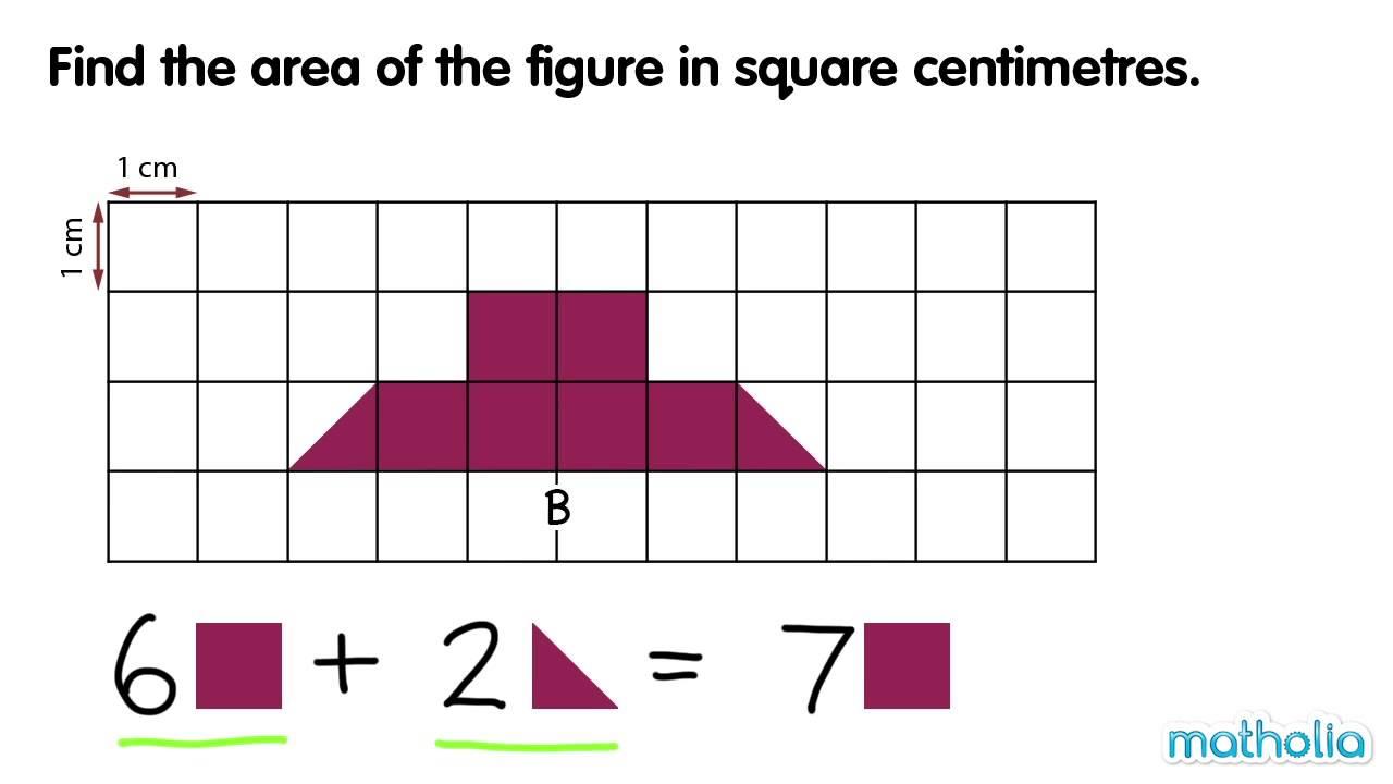 Measuring Area Square Centimetres Youtube