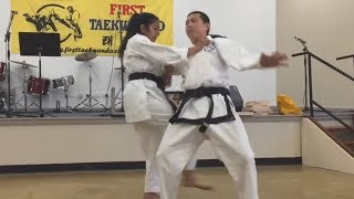 Junior black belt self-defence moves