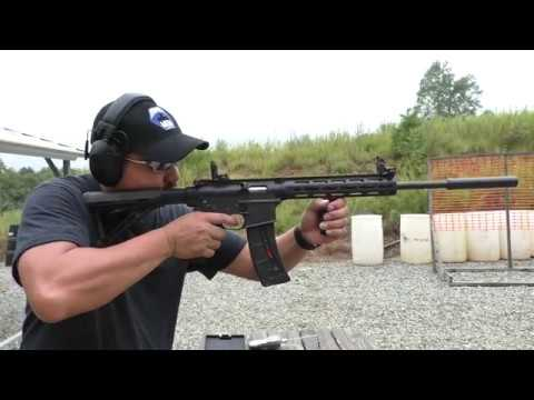 Smith and Wesson M&P 15-22 abused and suppressed