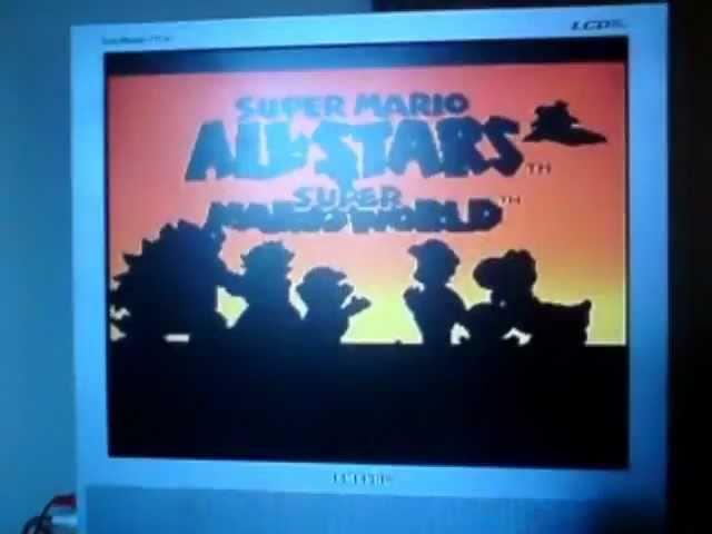 Super Mario All Stars Start SNES