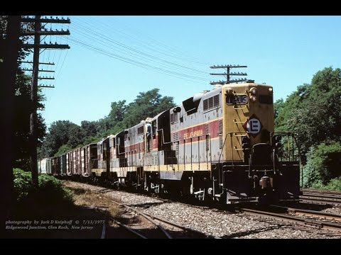 ERIE LACKAWANNA GP7's action, Northern NJ. in 1977