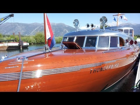 South Tahoe Antique Wooden Boat Classic