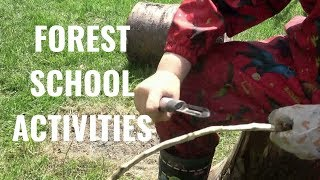 Forest School Activities - Bradley Green Primary