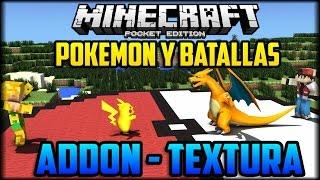 Minecraft PE 0.16.0 - Batallas y Pokemon Domables! - Addons Pocket Edition