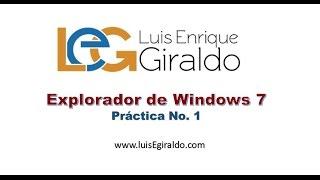 Explorador de Windows 7 - Parte 1