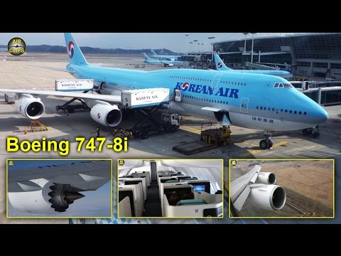 Korean Air Boeing 747-8i MEGA Business Class Seoul - Frankfurt! [AirClips full flight series]