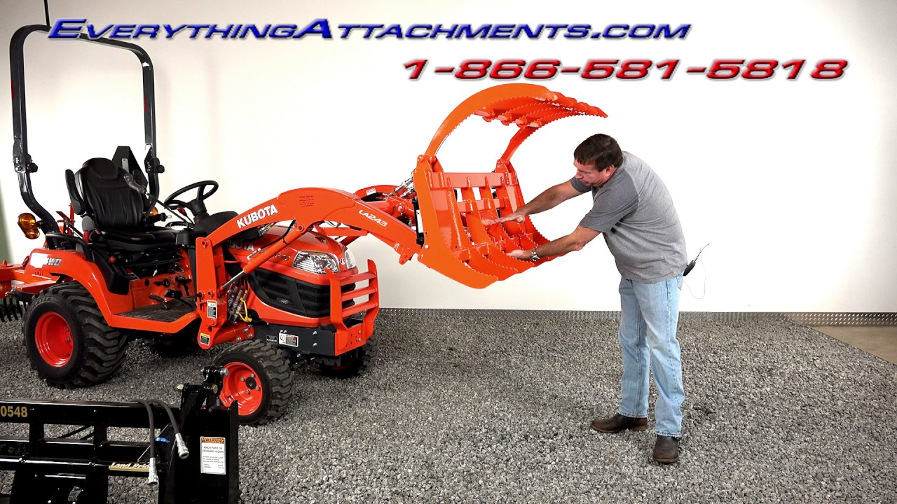 EA 48 Inch Wicked Root Rake Grapple for Kubota BX