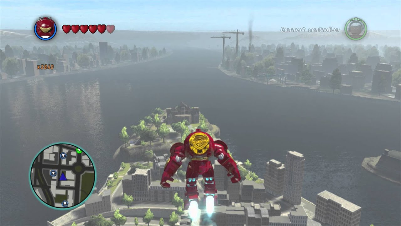 LEGO Marvel Superheroes - Hulkbuster Iron Man Glides Across the map ...
