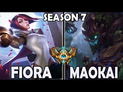 Afreeca Marin plays FIORA TOP vs A Korean Challenger Maokai Season 7