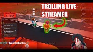 Giving Live Streamer Ls   Roblox Jailbreak