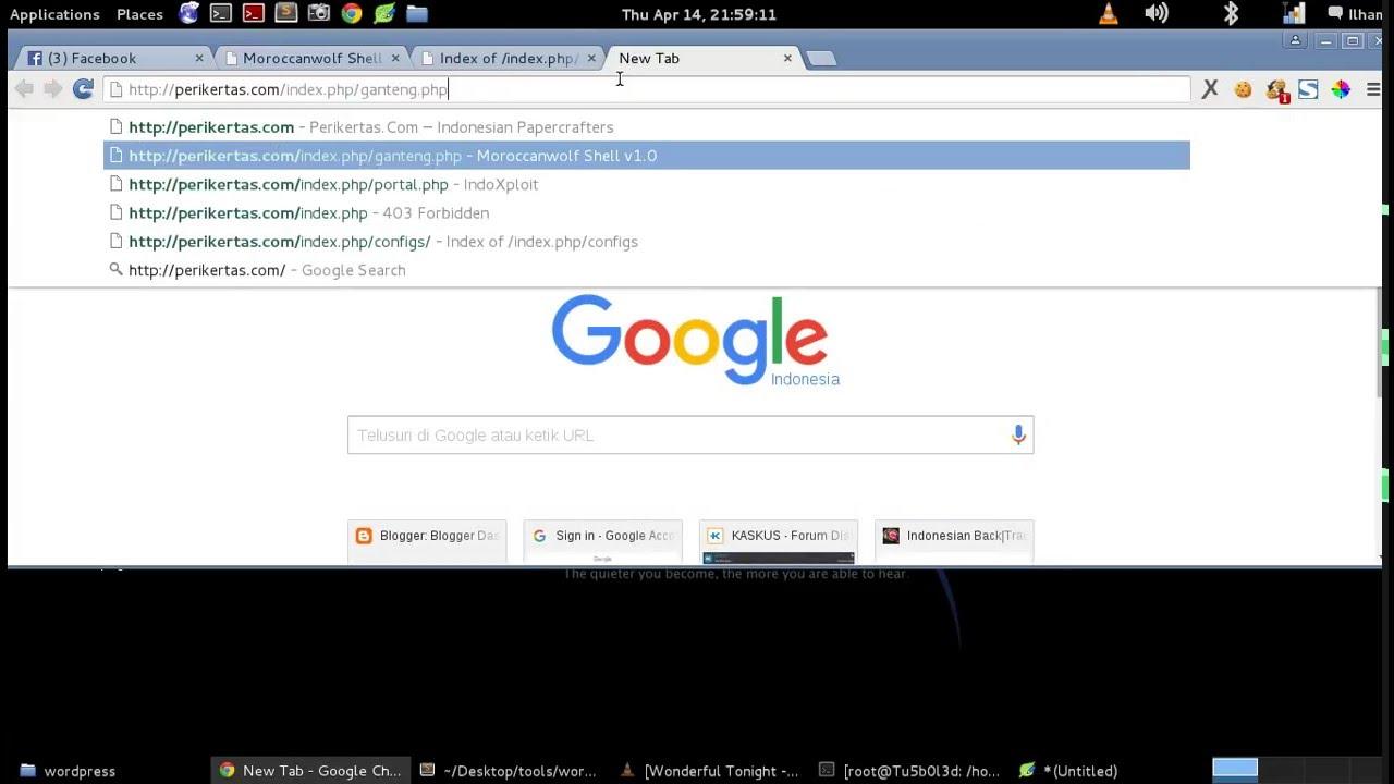 Auto Deface Cms Wordpress melalui link Config