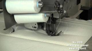 KSA KL233 mattress panel sewing unit