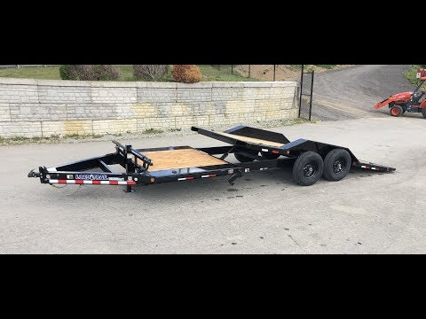 Load Trail 102x16+6' Gravity Tilt Equipment Trailer 14000# GVW TH0222072