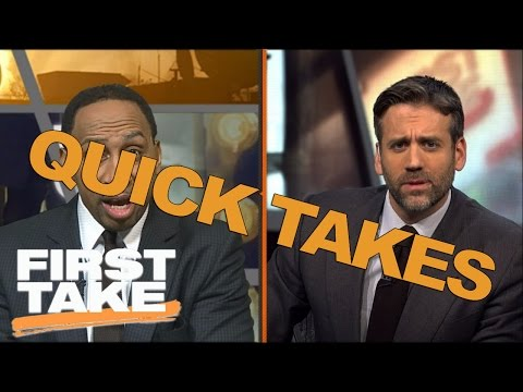 Quick Takes On Tiger Woods, Reuben Foster And Cam Newton | First Take | April 21, 2017