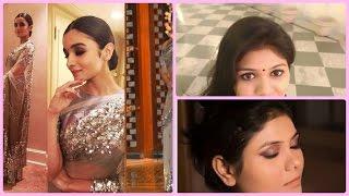 #30 Alia Bhatt Inspired Makeup Look | Smokey Eyes And Nude Lips / Bold Lips
