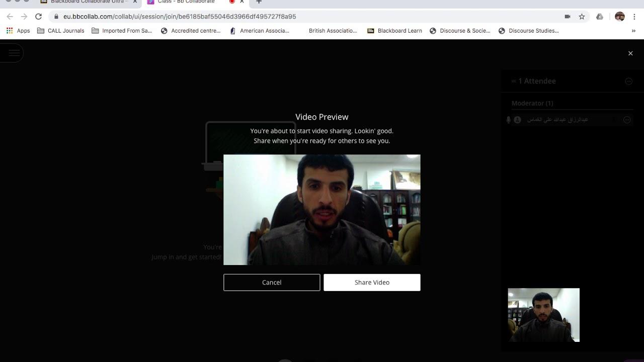 Blackboard Collaborate Ultra Qassim University Youtube