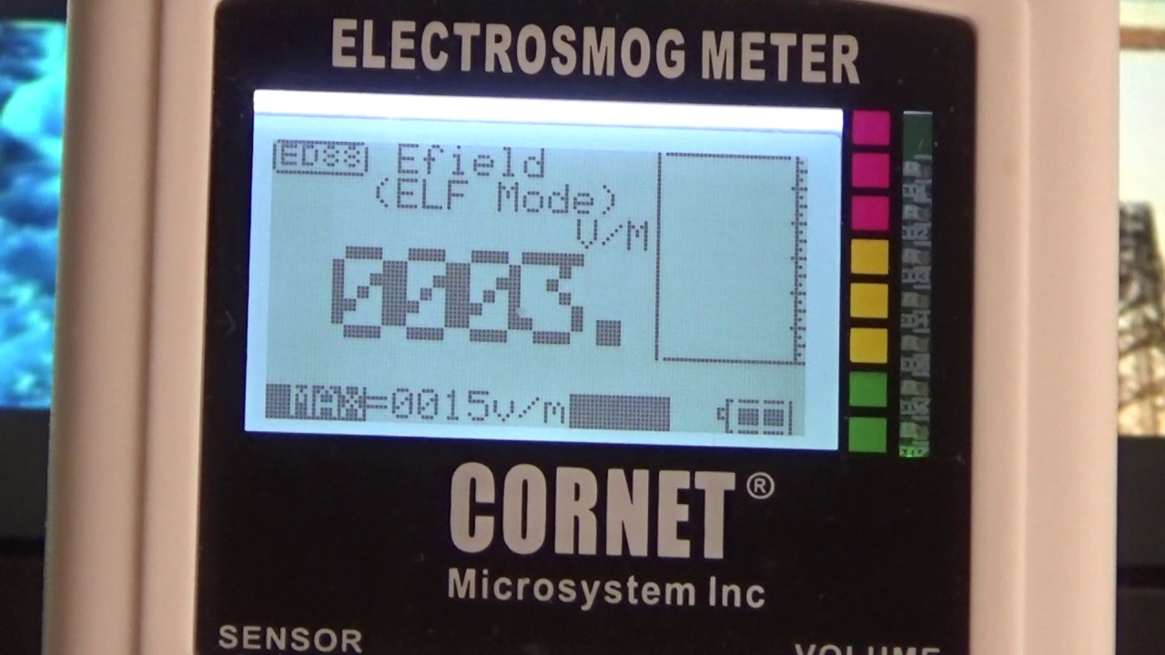 Måling af ELF-felt - Ekstremt lavfrekvente elektromagnetiske felter.
