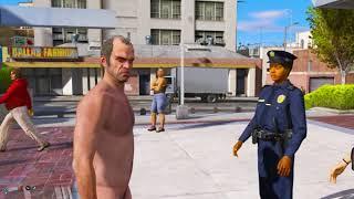 GTA 5 PC Nude Trevor Busted Again