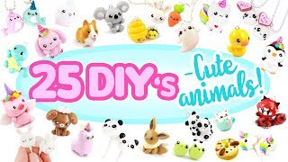 25 -Animal themed- DIY's! - BIG Polymer Clay Compilation!