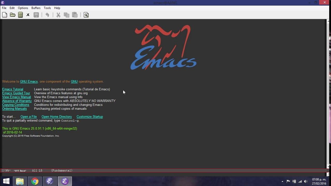 GNU Emacs #1: Installing on Windows