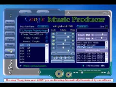 Google Music Producer (Google Project)