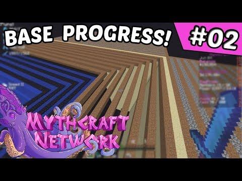 Base Work & Progress!! | Mythcraft #2 (Minecraft Factions)