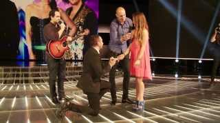 Repeat youtube video Marriage proposal on The X Factor