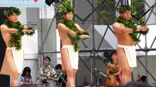 Male Hula dancers at Osaka
