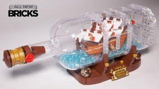 Lego Ideas 21313 Ship in a Bottle Lego Speed Build