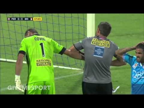 Perth Glory Goalkeeper Dislocates Finger Mid Match