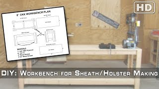 DIY - 8' Workbench for Sheath/Holster Making - (Part 1) - Building the Base Workbench